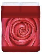 Red Rose Pastel Painting Duvet Cover