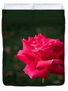 Red Rose Profile Duvet Cover