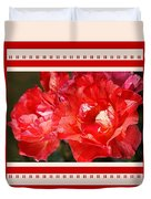 Red Rose With A Whisper Of Yellow And Design Duvet Cover