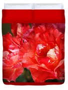 Red Rose With A Whisper Of Yellow  Duvet Cover