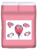 Red Rose- With Love  Duvet Cover