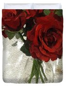 Red Roses And Glass Still Life 042216 1a Duvet Cover