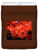 Red Roses Botanical Landscape 1 Red Rose Giclee Prints Baslee Troutman Duvet Cover