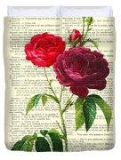 Red Roses For Valentine Duvet Cover