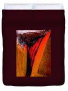 Red Running II Duvet Cover