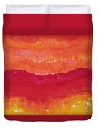 Red Saddle Original Painting Duvet Cover