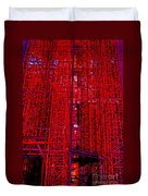 Red Scaffold Duvet Cover