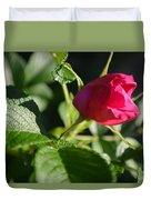 Red Semi Rose Bud Duvet Cover