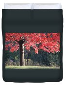 Red Shade Tree Duvet Cover