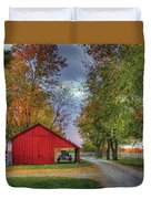 Red Shaker Carriage Barn Duvet Cover