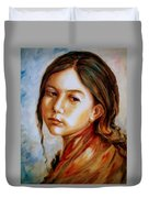 Red Shawl Duvet Cover