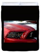 Red Shelby Duvet Cover