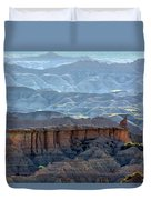 Red Shirt Formation Duvet Cover
