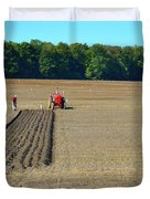 Red Shirt Red Tractor  Duvet Cover
