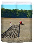 Red Shirt Red Tractor Two  Duvet Cover