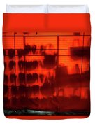 Red Shoes And Purses Duvet Cover