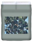 Red Shouldered Hawk Flying Away 1 Duvet Cover