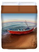 Red Skiff Duvet Cover