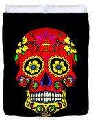 Red Skull Duvet Cover