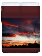 Red Sky Duvet Cover by Julian Perry