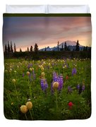 Red Sky Meadow Duvet Cover