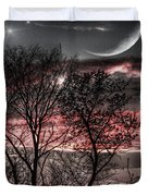 Red Sky Moon Duvet Cover