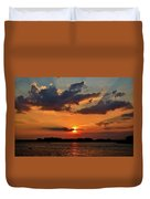 Red Sky Sunset Duvet Cover