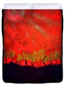 Red Sky Duvet Cover