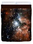 Red Smoke Star Cluster Duvet Cover