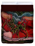 Red Sneakers Duvet Cover