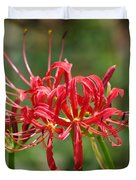 Red Spider Lily Duvet Cover