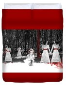 Red Stains - Self Portrait Duvet Cover