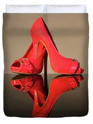 Red Stiletto Shoes Duvet Cover