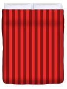Red Striped Pattern Design Duvet Cover