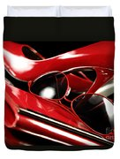 Red Stylish Accessories Duvet Cover