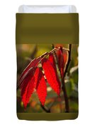 Red Sumac Leaves Duvet Cover