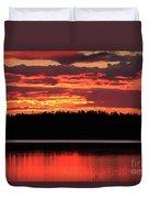 Red Summer Eve Duvet Cover