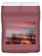 Red Sun Set Duvet Cover