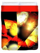 Red Sun Shell Duvet Cover