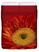 Red Sunflower Viii Duvet Cover