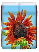Red Sunflowers-adult And Child Duvet Cover