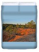 Red Sunset Cliffs Duvet Cover