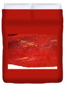 Red Surf On The Beach Duvet Cover