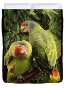 Red-tailed Amazon Amazona Brasiliensis Duvet Cover