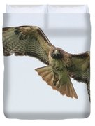 Red Tailed Hawk Finds Its Prey Duvet Cover