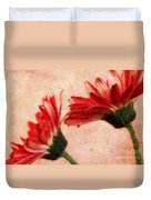 Red Texture 2 Duvet Cover
