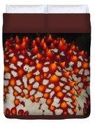Red Thorns Of A Sea Star, Pentaceraster Duvet Cover