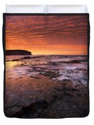 Red Tides Duvet Cover