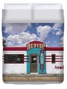 Red Top Diner On Route 66 Duvet Cover