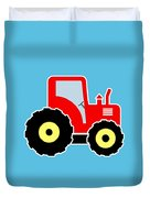 Red Toy Tractor Duvet Cover
